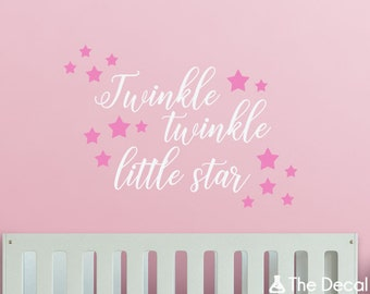 Twinkle Twinkle Little Star Wall Decal, Baby Nursery mur devis, enfants mur disant, Vinyl Stickers enfants - WAL-2367