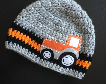 Newborn Tractor Hat Etsy