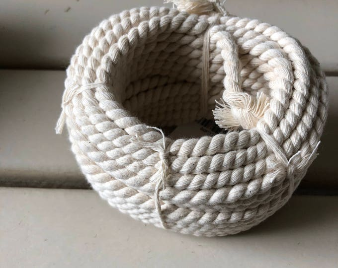 COTTON CORD 10 meters x 6 mm diameter natural color
