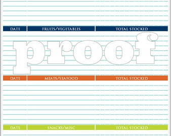 Personalized Freezer Inventory Printable