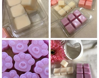 Lavender scented melts, wax melts, soy wax, wax tart, highly scented, Essential oils, natural wax