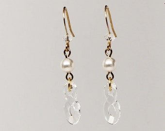 Swarovski crystal infinity earrings
