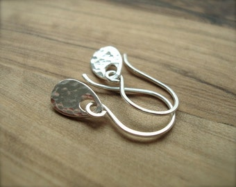 Tiny silver earrings - Sterling silver earrings - Small earrings - Hammered silver - Mothers Day Gift for her - Small gift
