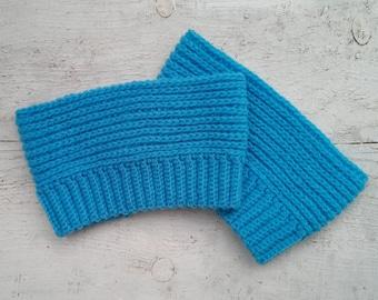 Boot topper cuffs women Leg warmers womens crochet Boot topper sock Boot topper Boot cuffs Boot socks Leg Warmers Handmade boot cuffs Blue