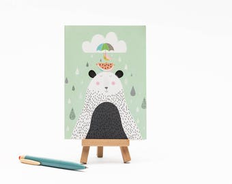 Bear and Bird -  Card