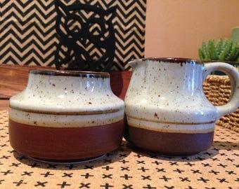 Sundo Stone Stoneware Milk Jug and Sugar Bowl, made in Korea