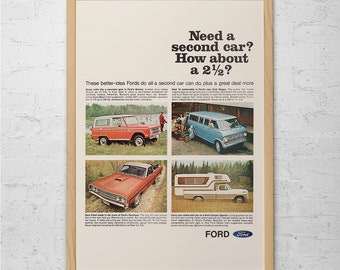 VINTAGE FORD TRUCK Ad - Classic Car Poster Garage Poster Mechanic Car Wall Art Ford Pick-Up Truck Vintage Ford Poster