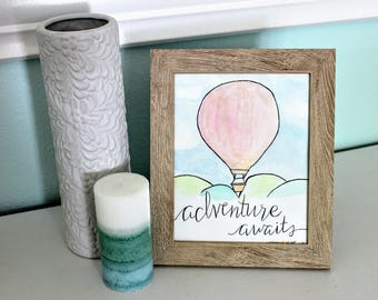 Adventure Awaits Hot Air Balloon Print