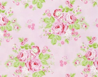 Pink Rambling Rose  PWTW129-PINK Cotton Fabric by Tanya Whelan Free Spirit