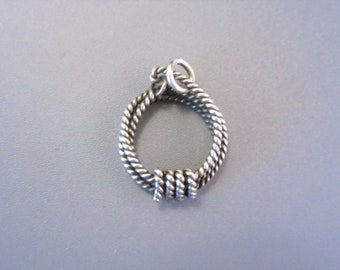 Vintage Sterling Lasso Rope Charm