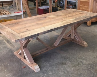 Perfect Farm Table, Benches And Chairs In Reclaimed Wood, Barn Wood Or Distressed  Heart Pine   Zinc Top, Bar Height U0026 Various Leg Styles Available