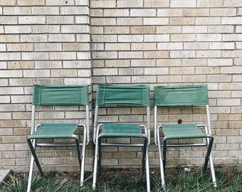 Vintage Canvas + Aluminum Camp Chair