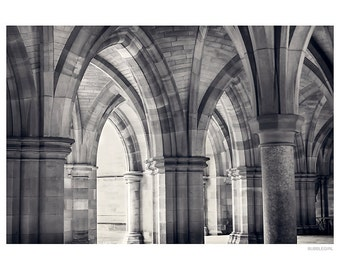 Urban Photography PRINT, Cloisters - 1 , Black and White, Wall Art