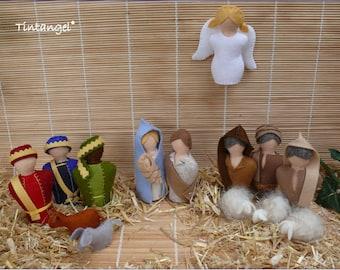Nativity set - Nativity Play set - PDF pattern - Instand download