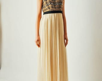 ON SALE - Vintage 1970s Sabina of India Gown