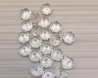 5pcs Swarovski 5040 8 mm clear Austrian Crystal / Crystal Swarovski 5040 8 mm clear beads