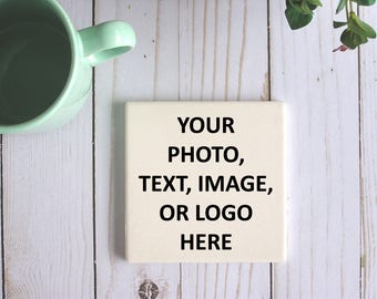 Make Your Own Personalized Sandstone Coaster Custom Coasters Your Text Here Gifts For Housewarming Gifts Create Your Own Stone Coaster Set