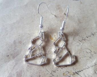 Geometry rabbit earrings ~ silver ~