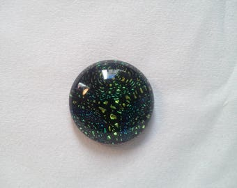 Round 20 mm - 2 252 Dichroic Glass cabochon