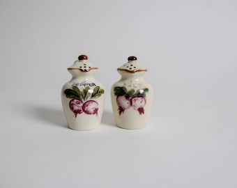 Japanese Ceramic Pomegrante Pitcher Salt and Pepper Shakers