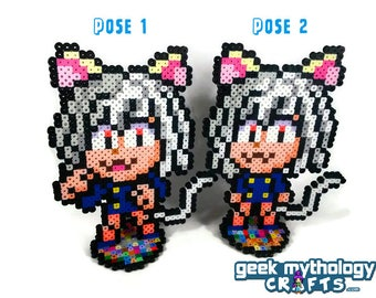 Neferpitou from Hunter x Hunter - Perler Bead Sprite Pixel Art Figure Stand or Lanyard Necklace