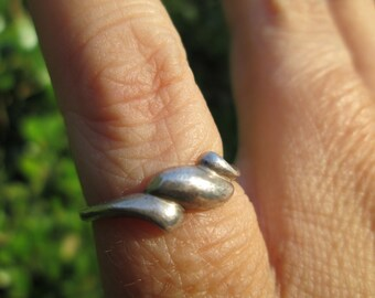 Sterling Wave Ring Size 4.5