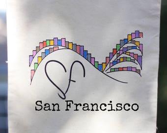 San Francisco Tote Bag : Hillside Houses