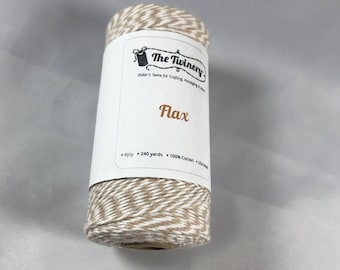 Bakers Twine - The Twinery - 100% Cotton  - Flax - Your Choice of Amount