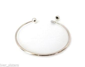Solid Sterling Bracelet  2 Ball Torque design sterling silver 925
