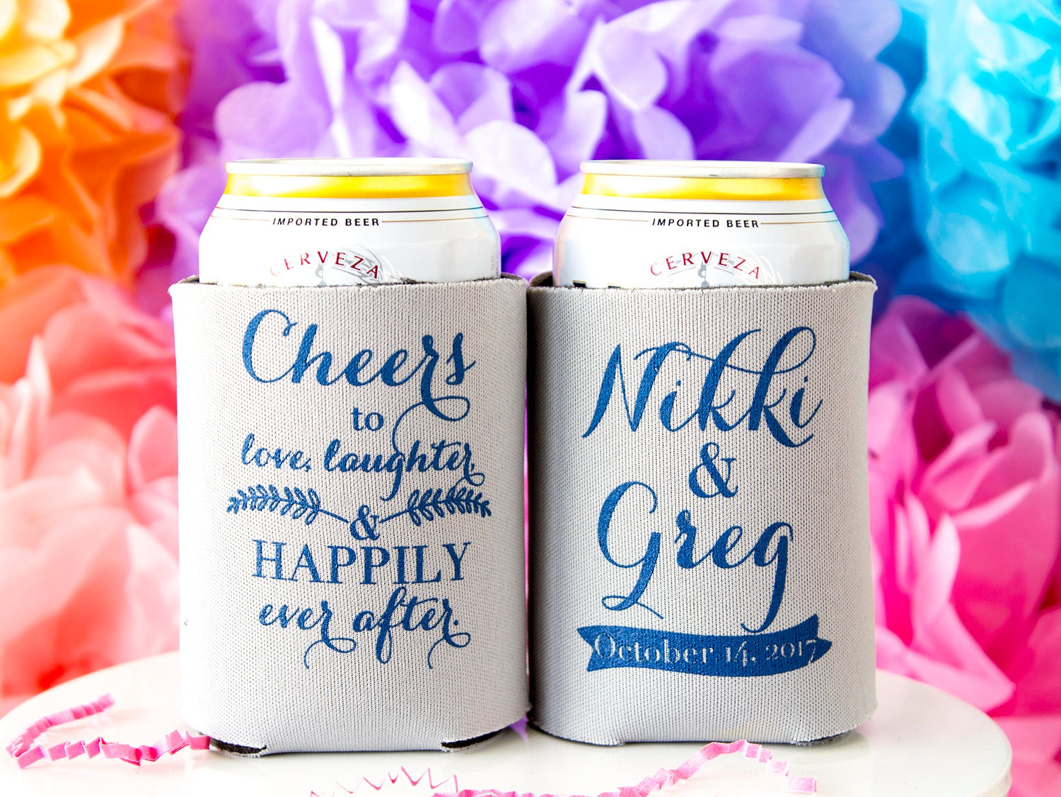 Personalized Wedding Gifts For Guests: Wedding Favors For Guests Personalized Can Cooler Wedding