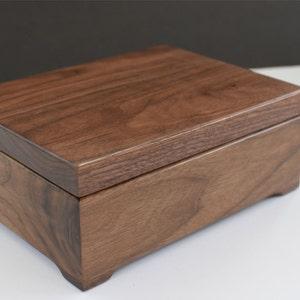 Wooden Keepsake Box - Memory Box - Walnut Keepsake Box - First Communion -Personalized Wooden Box