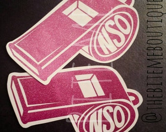 NSO Roller Derby Whistle Vinyl Decal