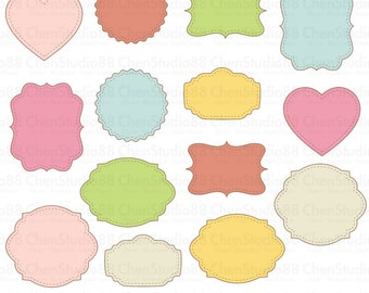 Shabby Chic Frame Vector Digital Clipart Instant Download