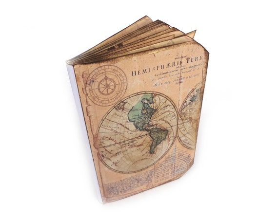 Travel journal old world map scrapbook wanderlust vacation like this item gumiabroncs Images
