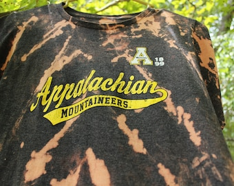App State Shirt, Appalachian State T Shirt, Mountaineers T Shirt, Bleach Tie Dye App State T Shirt, Mountaineers t shirt