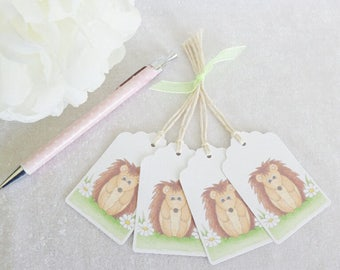 Little Hedgehog Gift Tags - set of 4 tags