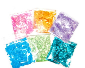 Bright Pastels, Glitter, Solvent Resistant, Glitter Sampler Set, Nail Polish Glitter, Glitter Shapes, Glitter Nail Art, Craft Glitter, Nails