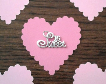 """Sterling Silver """"Sweet 16"""" Charm"""