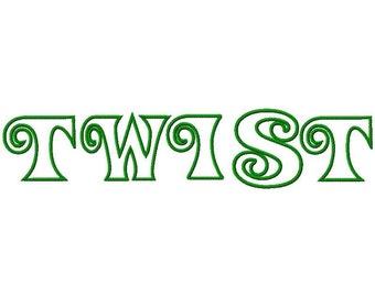 Twist Machine Applique Embroidery Fonts  1972