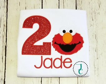 Elmo Birthday Shirt - Elmo Dress, Elmo Birthday, Elmo Party, Sesame Street Birthday, Sesame Street Shirt, Sesame Street Dress, Baby Birthday