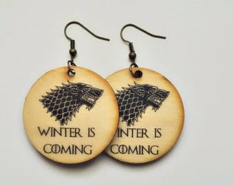 Game of Thrones gift, Game of thrones jewelry,Winter is coming, House Stark Direwolf