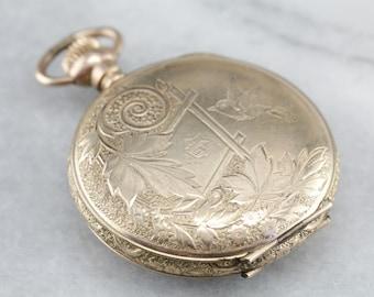 Antique Columbia Pocket Watch, Victorian Pocket Watch, Hunter's Watch, Watch Pendant ZAA2F8PC-D