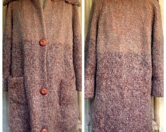 Hand Knit Sweater Coat