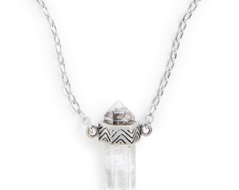 Signature Crystal Necklace (Small) | Silver / Quartz Crystal