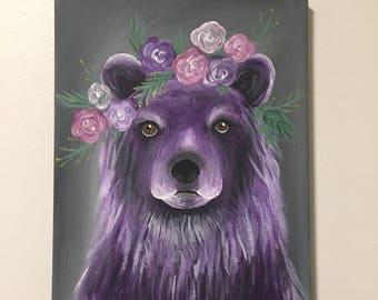 Original Bear Painting on Canvas