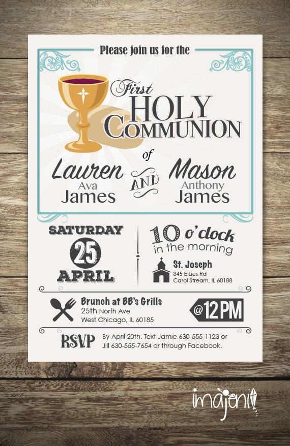 Diseño de invitación primera comunión para niño o niña 1ª