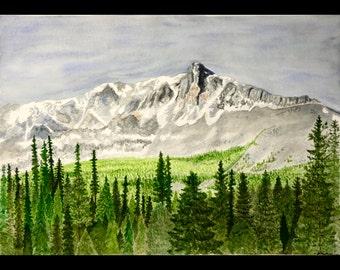 Canadian Rockies Mountain