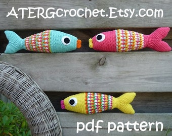 Crochet pattern colorful fish by ATERGcrochet