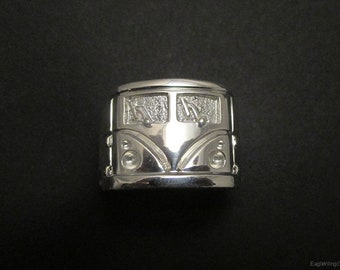 VW Van ring - Sterling silver - Auto ring
