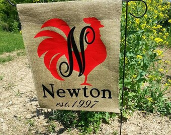 Rooster Garden Stake Or Wall Hanging Garden Art Chicken